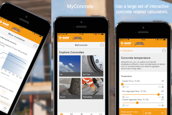 BASF MyConcrete – Mobile App